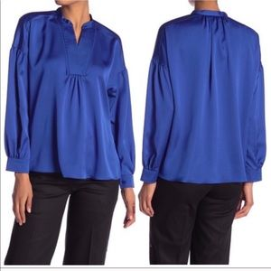 🍁🆕Laundry by Shelli Segal Blue Blouse, Small🍁